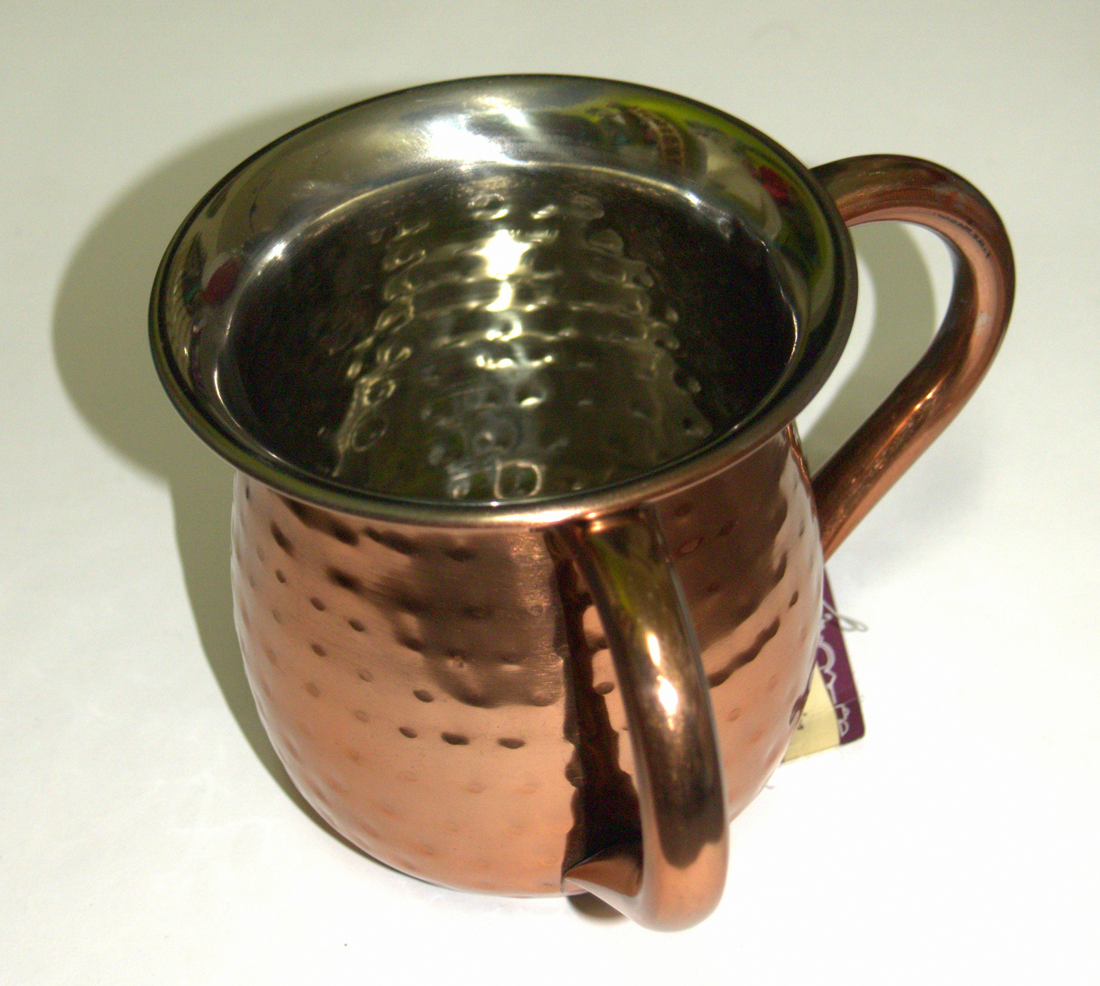 Judaica Hand Wash Cup Netilat Yadayim Last Waters Bronze Stainless Steel Hammere