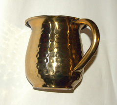 Judaica Hand Wash Cup Netilat Yadayim Last Water Stainless Steel Gold Hammered image 5