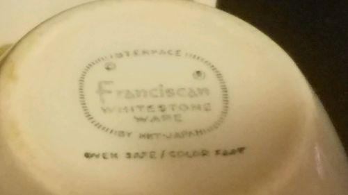"""Vintage Franciscan """"Pickwick"""" Sugar & Creamer Set"""