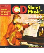 CD Sheet Music: J.S. Bach Works for Keyboard & Four-Part Chorales - $9.79