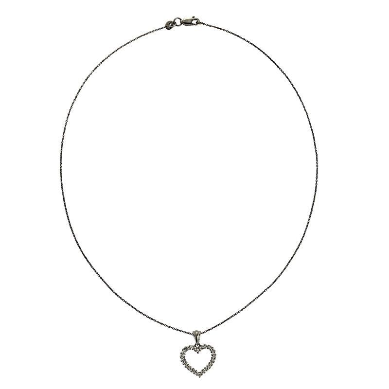 Shining Heart Necklace with White Topaz Gemstone 925 Sterling Jewelry SHNL0084