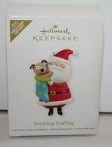 Hallmark Ornament Stocking Stuffer Santa and Puppy 2012 - $17.41