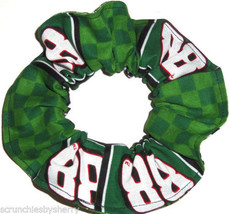 Dale Earnhardt Jr Green Fabric Hair Scrunchie Scrunchies by Sherry Ponytail #88 - $6.99