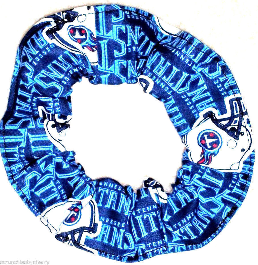 Tennessee Titans Blue Fabric Hair Scrunchie Scrunchies by Sherry NFL  Ponytail