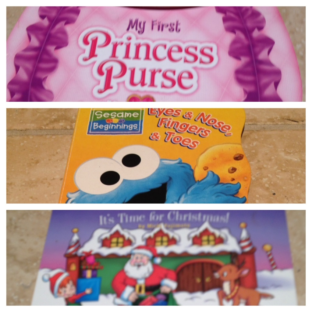 set of 3 children's books:eyes & nose fingers toes, my first princess purse, it'