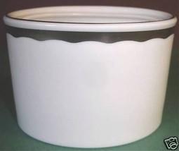 Wedgwood Silhouette Sugar Bowl NO LID Platinum Trim New - $12.99
