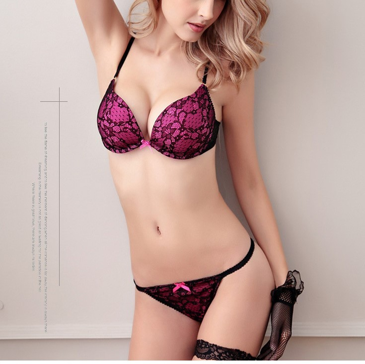 Women Push up Bra set Lingerie Wedding Gifts Underwear 32/34/36/38 A B C Cups