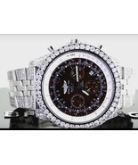 10 Carats iced out CUSTOM diamonds mens watch b... - $11,285.01