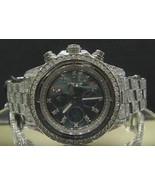 15 CT. iced out CUSTOM diamond watch SS super a... - $12,462.12