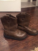 Duck Head Kids Brown Boots Youth Size 1 Dustin Jr Pull Tabs - $14.00