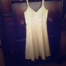 SANGRIA Petite White Boho Festival Hippie Dress - Beaded & Lace Crochet Size 6 - $14.85