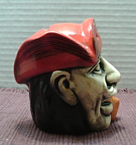 Vintage PIRATE Head COIN BANK // Boys Room Decor // Ceramic Still Life Bank