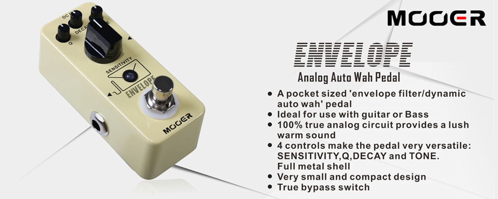 Mooer ENVELOPE New! Autowah for Guitar or Bass Effect Pedal