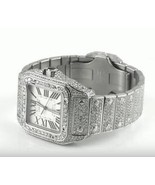 28 carats iced out CUSTOM diamond cartier men w... - $17,709.12