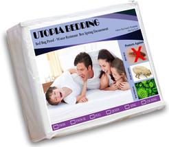 Hypoallergenic Queen Size Waterproof Mattress Cover Zippered Bed Bug Pro... - $27.68