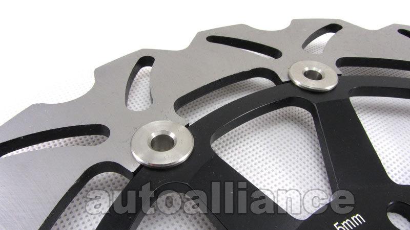Black Front + Rear Brake Disc Rotor for Kawasaki Ninja ZX10R 08-11 09 10