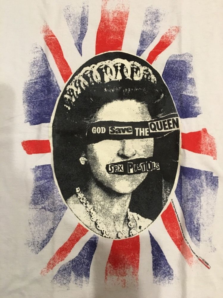 "Amplified Sex Pistols ""God Save The Queen"" White T shirt S,L,XL,XXL Vintage wash"