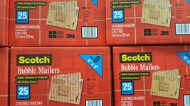 Scotch Bubble Mailers 3M   25 PACK -- 6 IN X 9 ... - $7.38