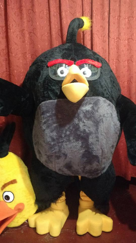 Angry Birds Mascot Costume Adult Black Bird Costume For Sale