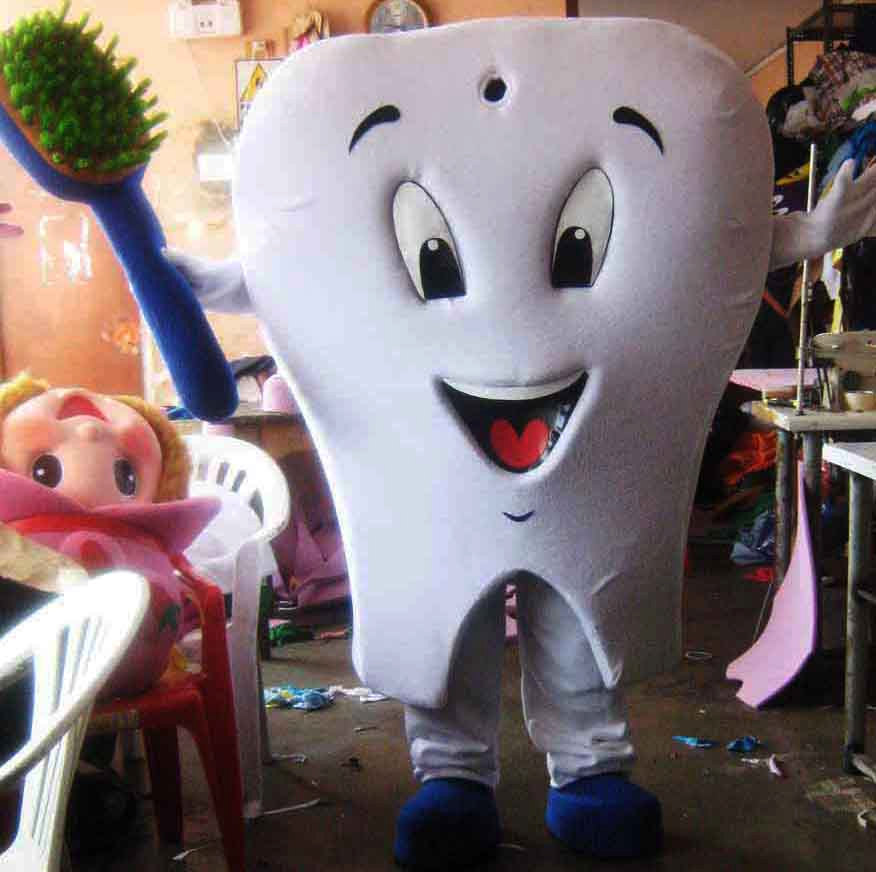 Tooth Mascot Costume Adult Costume For Sale