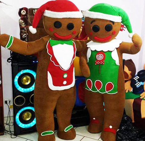 Gingerbread Man Mascot Costume Adult Costume For Sale
