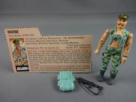 Vintage GI JOE Action Figure 1983 Gung-Ho V1 100% w Peach File Card - $17.72
