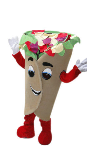 Pita Wrap Mascot Costume Adult Character Costume For Sale