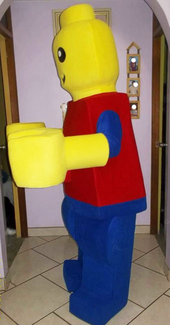 Legoman Mascot Costume Adult Costume For Sale