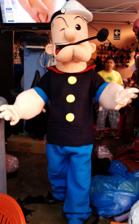 Popeye Mascot Costume Adult Costume For Sale