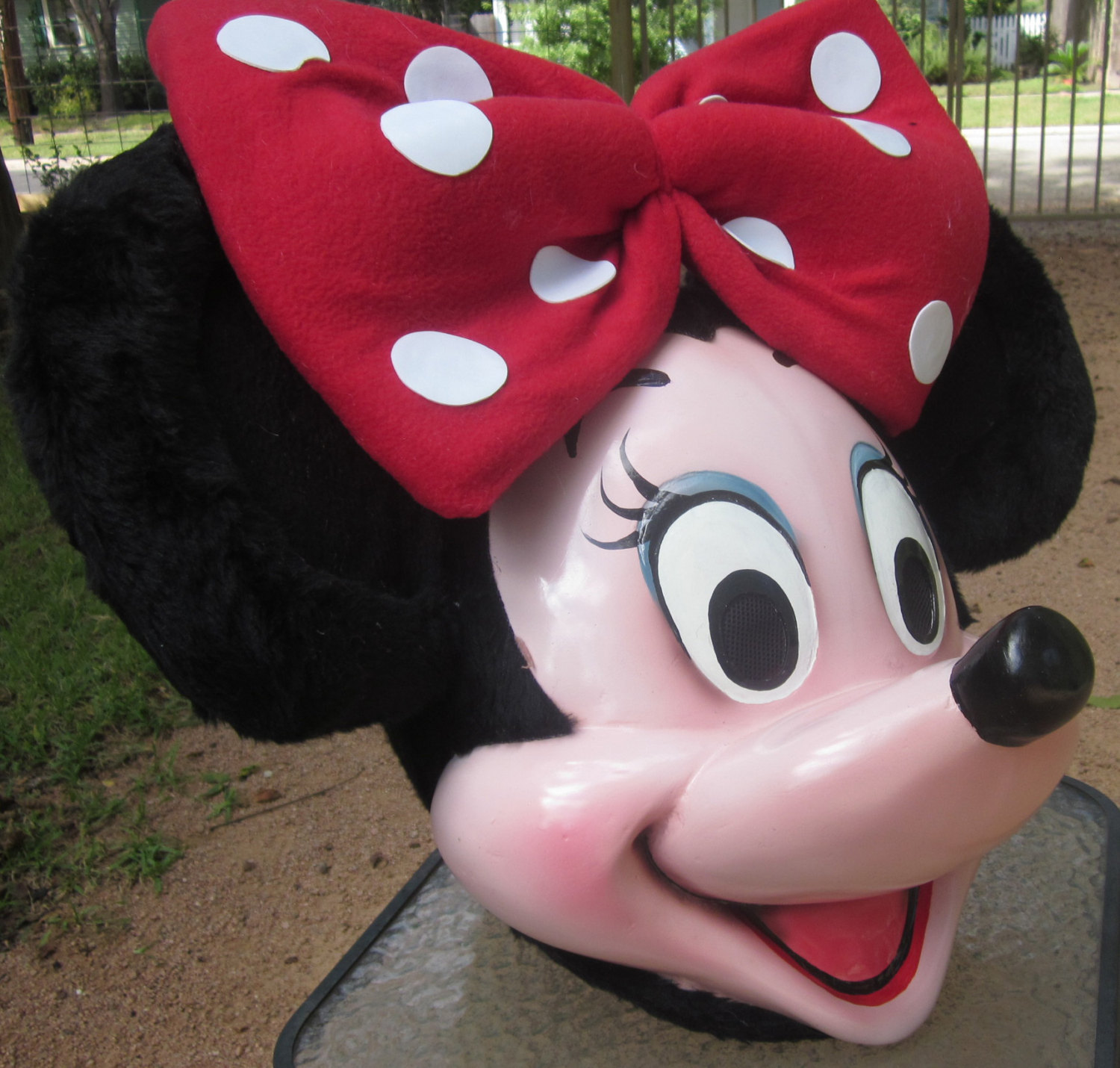 Minnie Mouse Mascot Costume Head and gloves ONLY STD Adult size/ Special listing