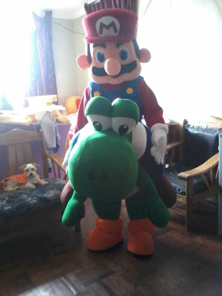 SuperMario and Yoshi Mascot Costume Adult Costume For Sale