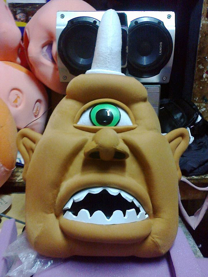 Cyclop Costume Head ONLY STD Adult size
