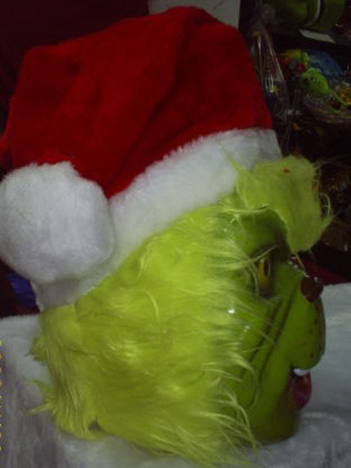 The Grinch Costume Head Adult size