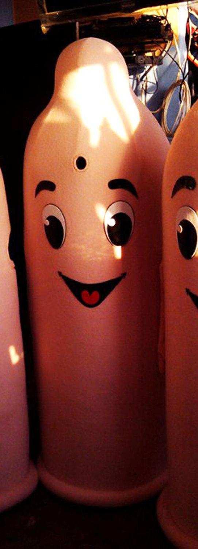 Condom Mascot Costume Adult Costume For Sale