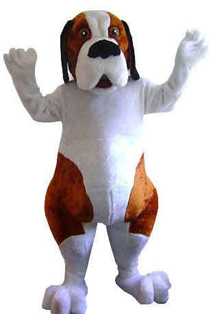 Saint Bernard Dog Mascot Costume Adult Costume For Sale