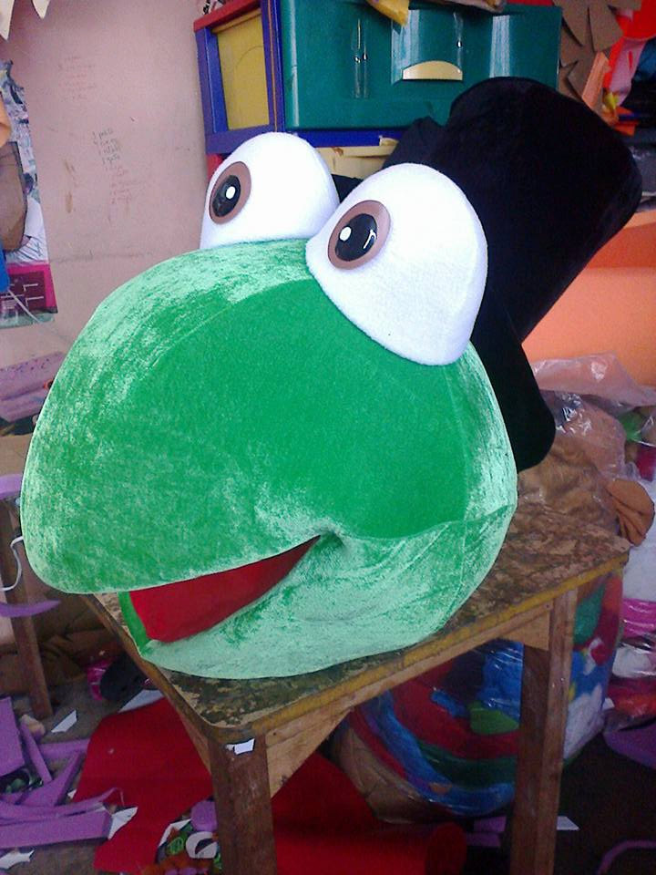 Frog Mascot Costume Head ONLY STD Adult size