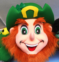 Leprechaun Head Mascot Costume Adult Costume - $175.00