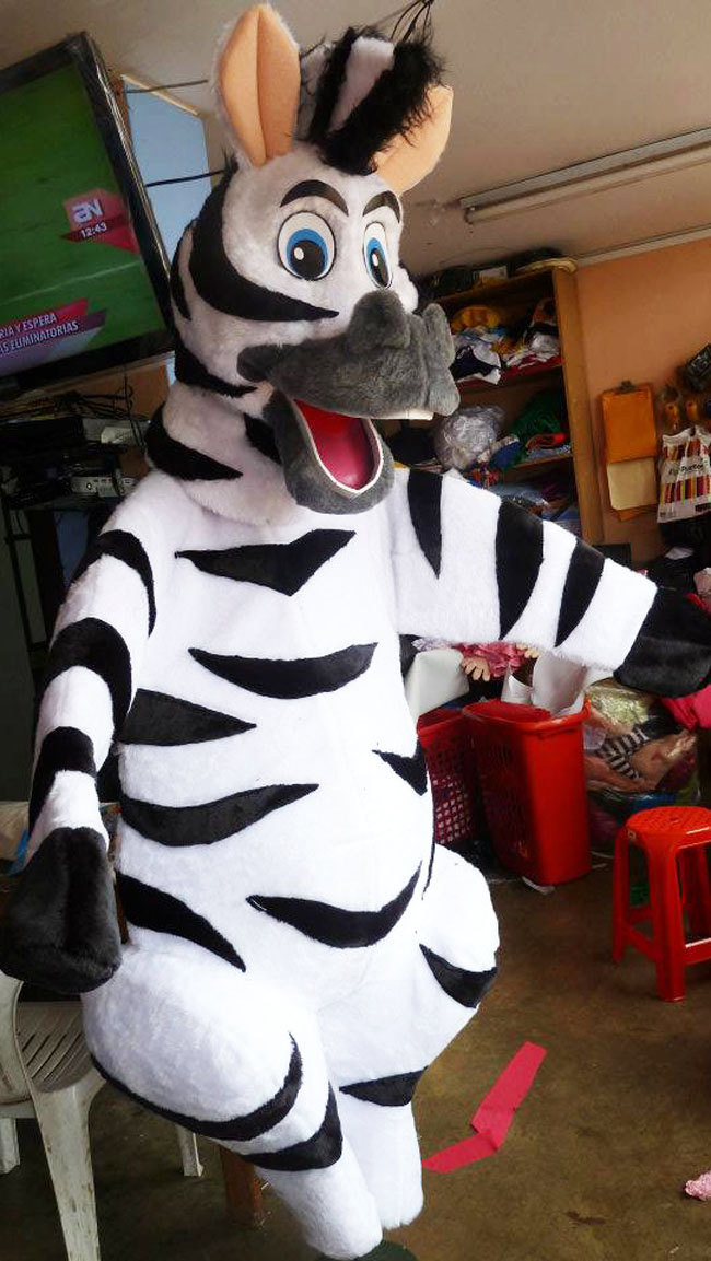 Zebra Mascot Costume Adult Costume For Sale