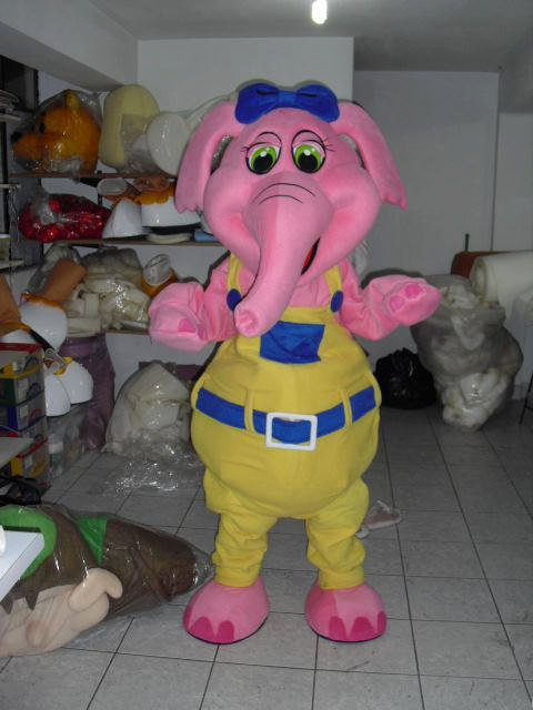 Pink Elephant Mascot Costume Adult Costume For Sale