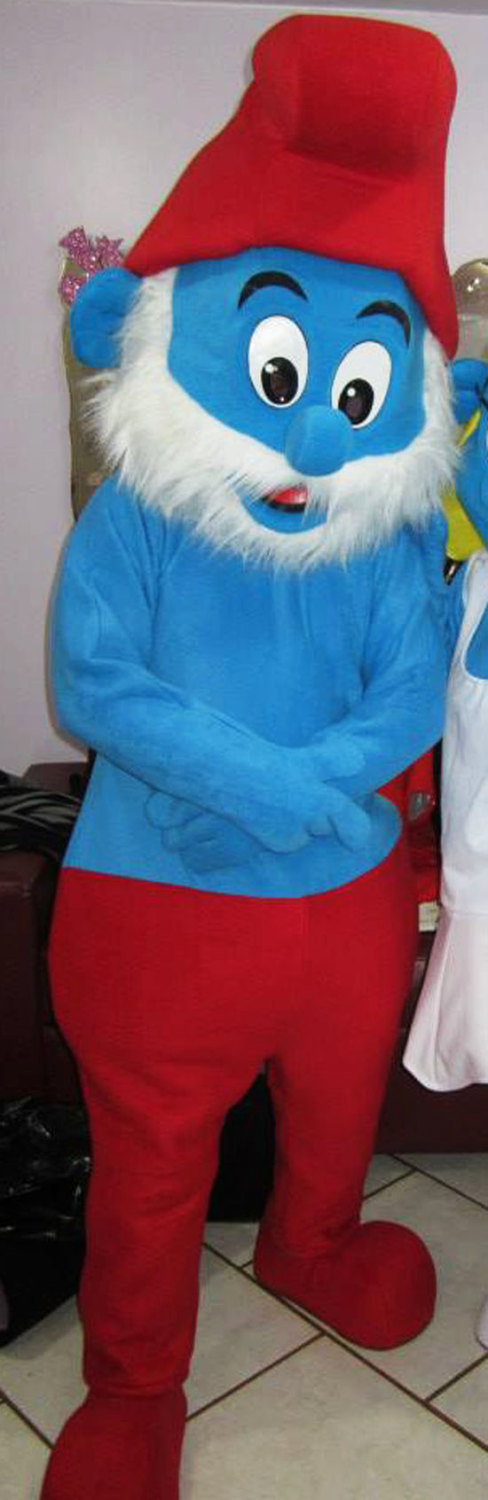 Papa Smurf Mascot Costume Adult Costume For Sale