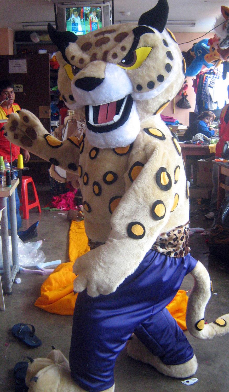 Martial Arts Cheetah Mascot Costume Adult Costume For Sale