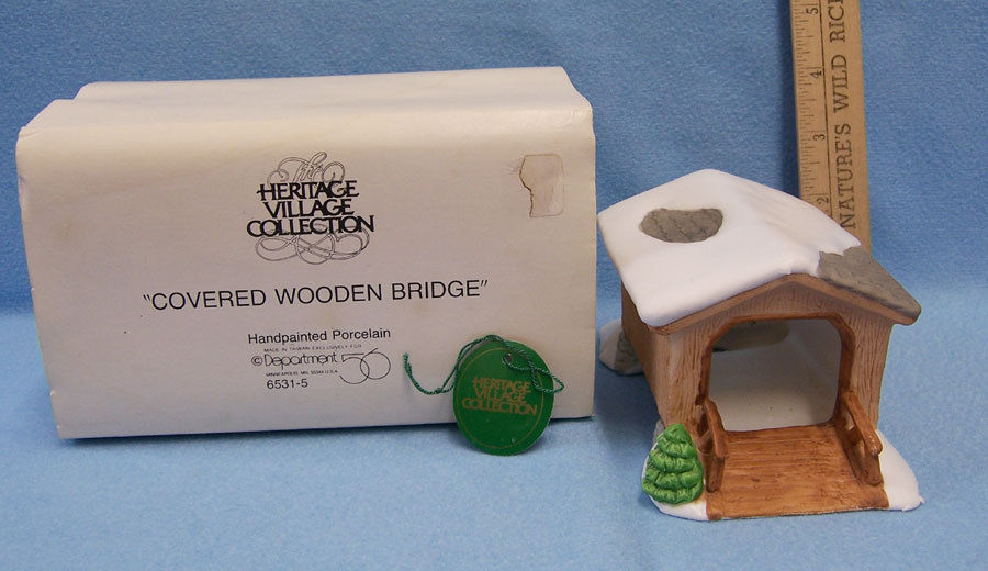 Primary image for Department 56 Heritage Village Covered Wooden Bridge Original Box  # 6531-5