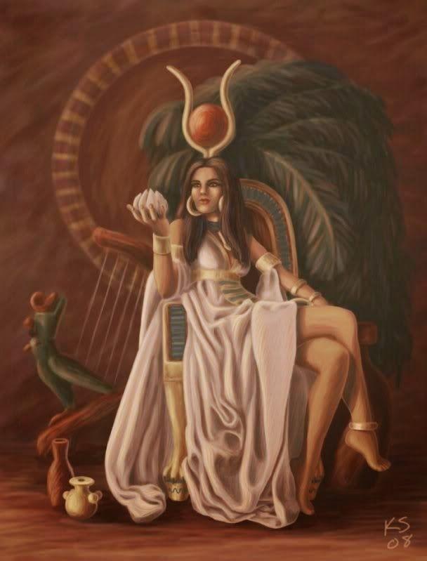 EGYPTIAN GODDESS IMMORTAL HATHOR and marid elite djinn rARE powerful combo