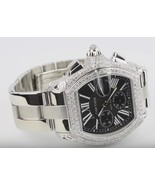 Cartier mens roadster watch 10 ct. custom diamo... - $8,761.50