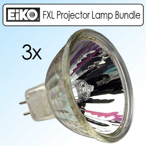 EIKO FXL 82V/410W GY5.3 Base Overhead Projector Lamp Bundle Of 3