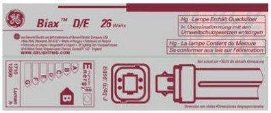 GE Lighting 97612 (6-Pack) F26DBX/835/ECO4P 26-Watt Dimmable CFL Plug-In Doub...