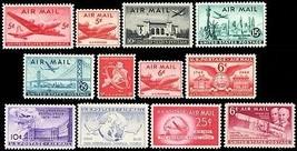 C32//C45, 1946-1949 Airmail Commemorative Set of 12  MNH Stamps - Stuart Katz - $11.95
