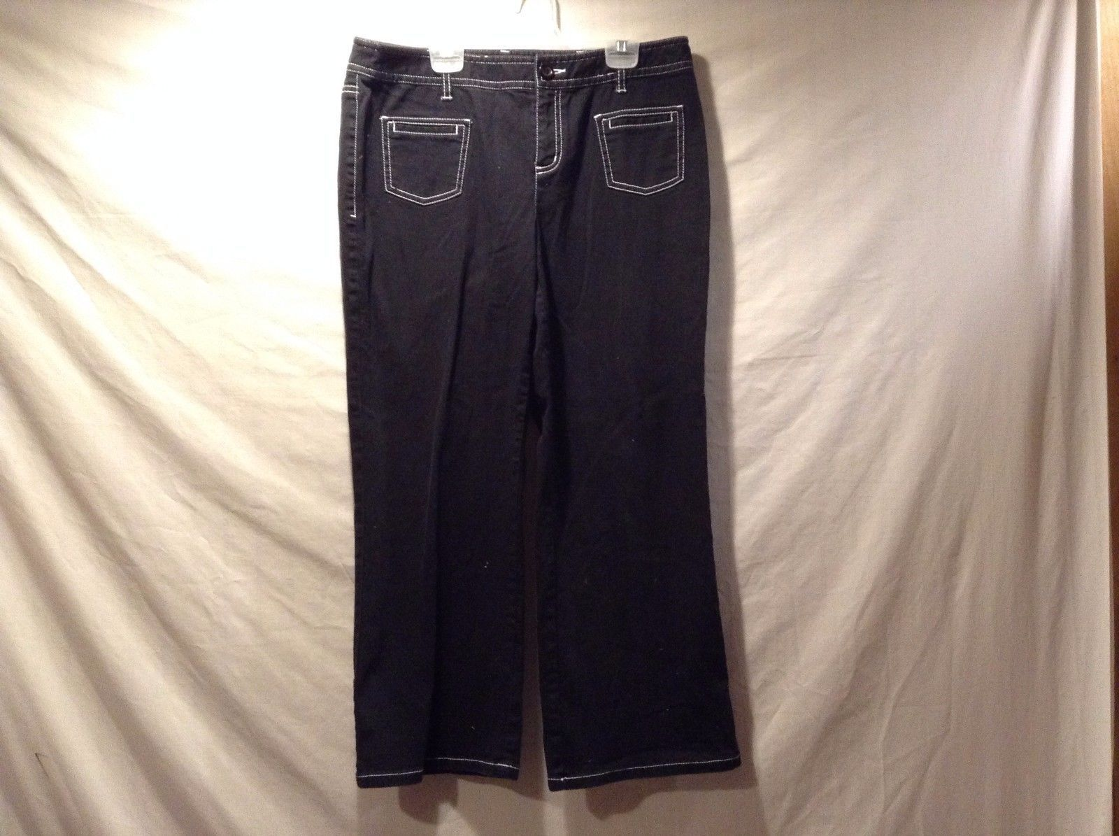 Great Condition International Concept Size 10 Black Pants 97% Cotton 3% Spandex