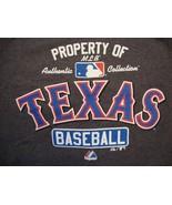 MLB Texas Rangers Baseball Authentic Sportswear Fan Apparel Gray T Shirt... - $15.53