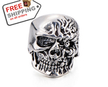 Silver plated big tripple skull ring1 thumb155 crop